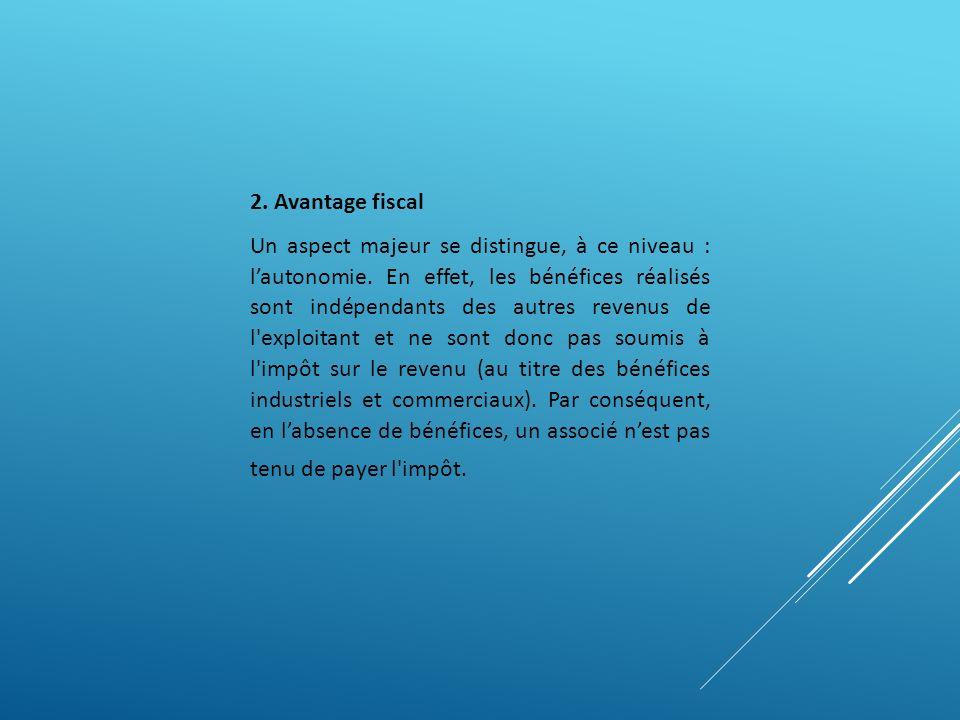 2. Avantage fiscal