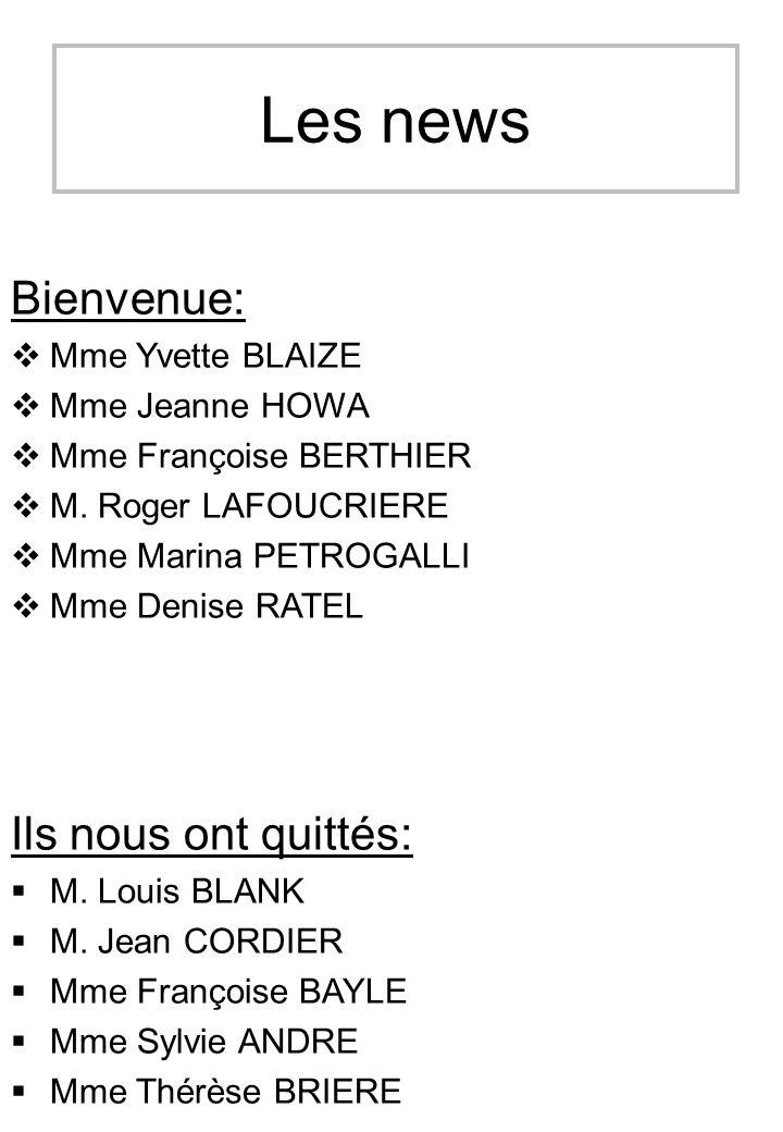 Les news Bienvenue: Ils nous ont quittés: Mme Yvette BLAIZE