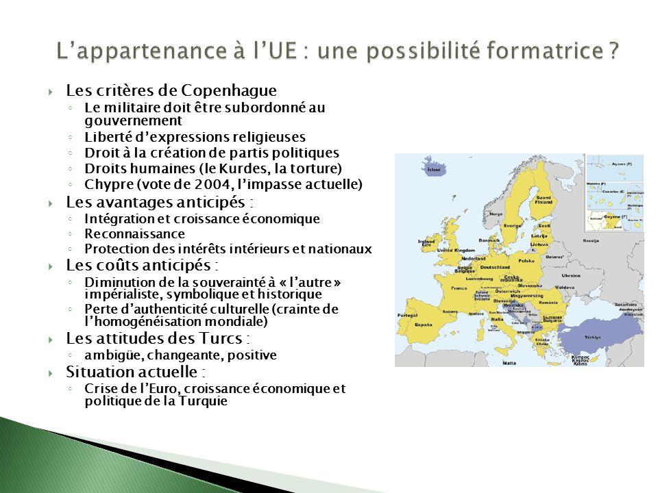 L'appartenance à l'UE : une possibilité formatrice