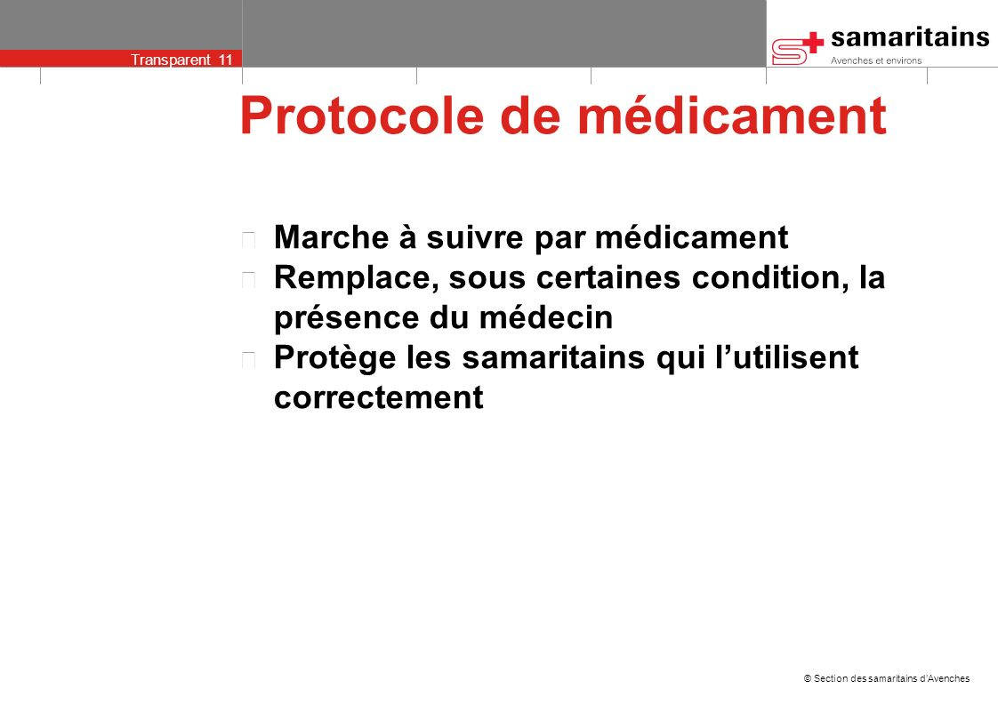 Protocole de médicament
