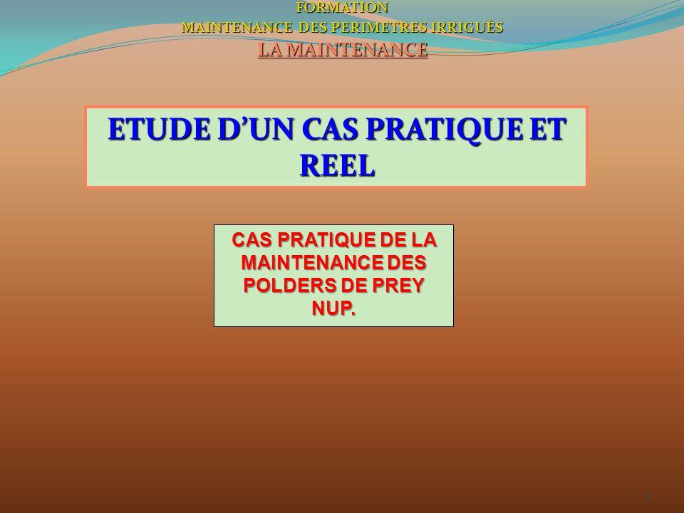 ETUDE D'UN CAS PRATIQUE ET REEL