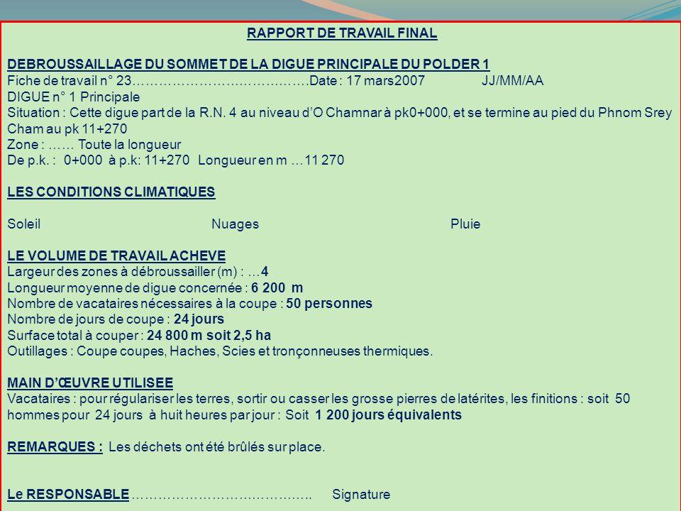 RAPPORT DE TRAVAIL FINAL