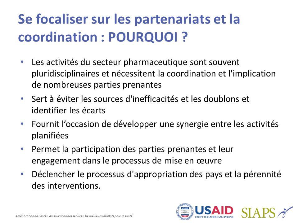 Se focaliser sur les partenariats et la coordination : POURQUOI