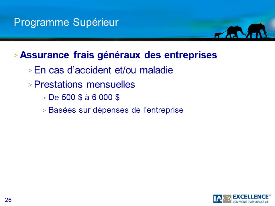 Programme Supérieur Assurance frais généraux des entreprises