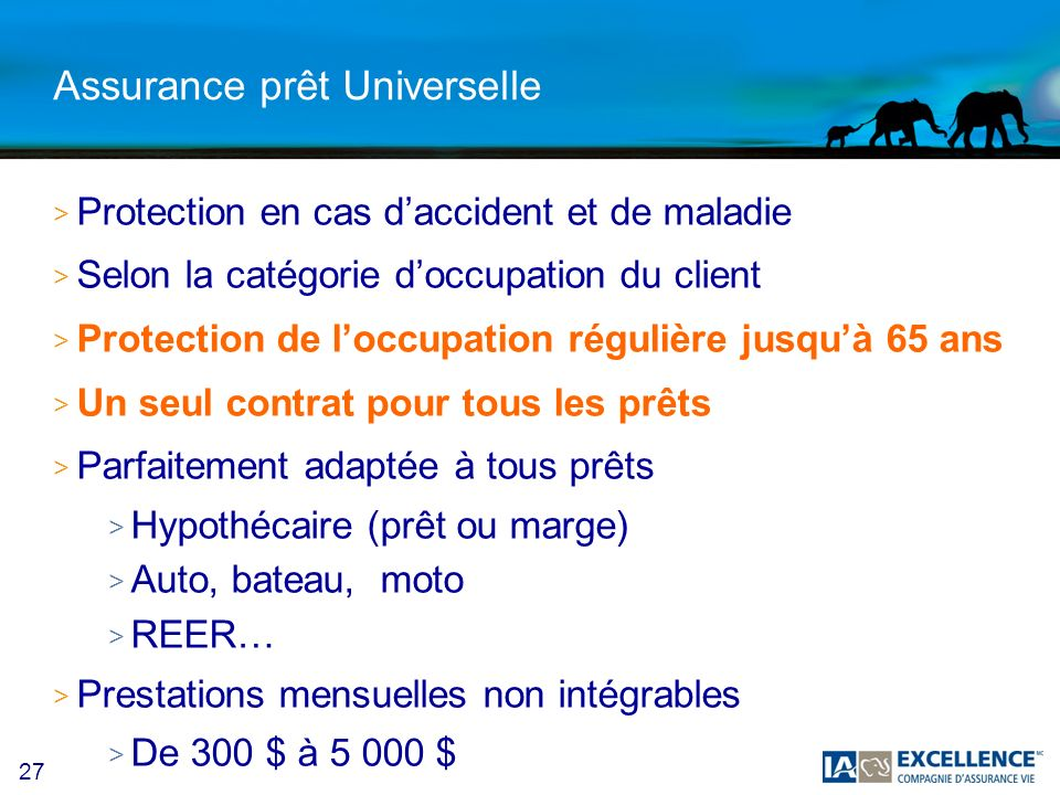 Assurance prêt Universelle