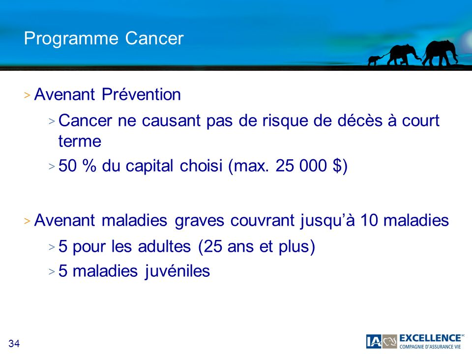 Programme Cancer Avenant Prévention