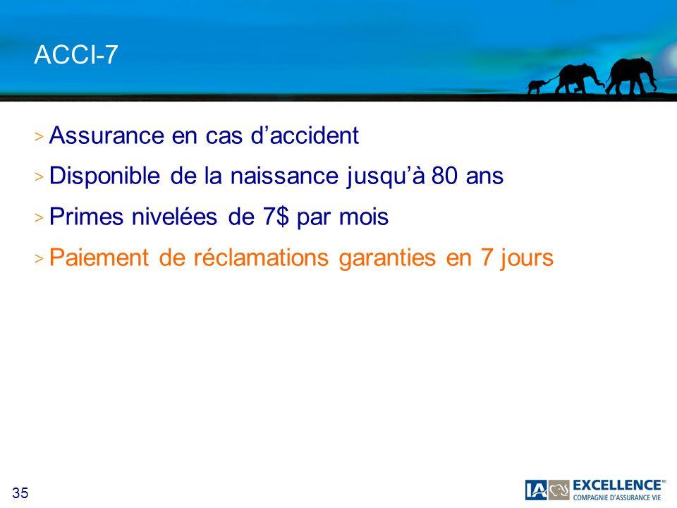 ACCI-7 Assurance en cas d'accident