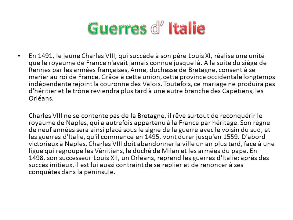 Guerres d' Italie