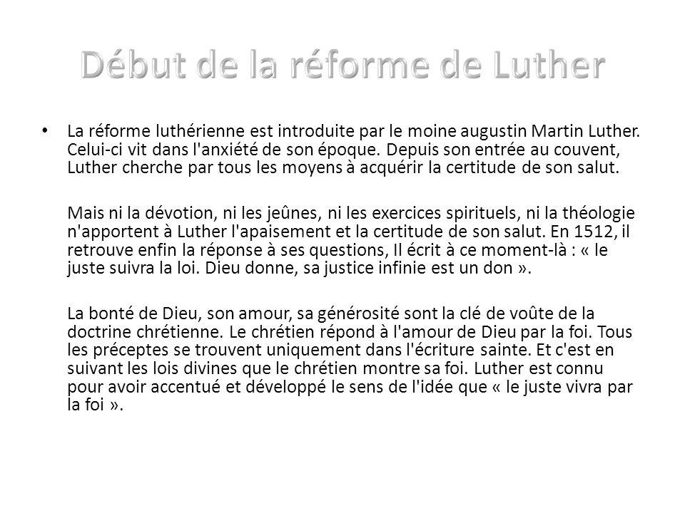 Début de la réforme de Luther