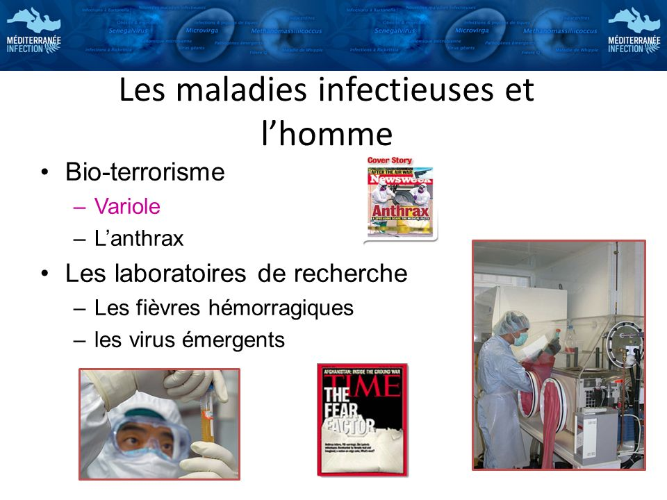 Les maladies infectieuses et l'homme