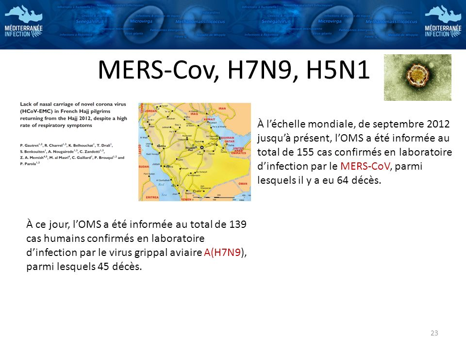 MERS-Cov, H7N9, H5N1