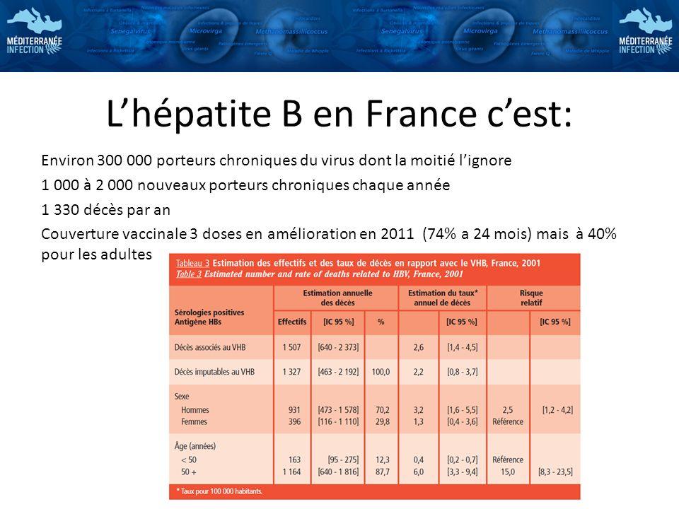 L'hépatite B en France c'est:
