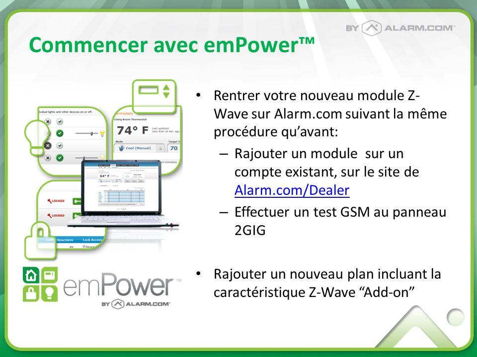 Commencer avec emPower™
