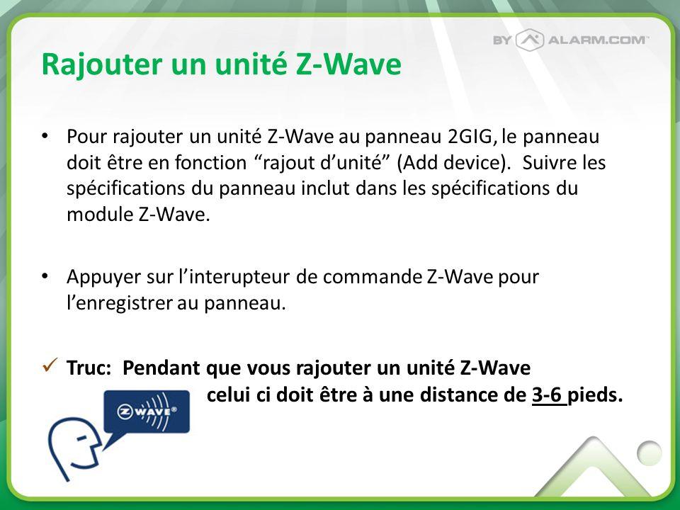 Rajouter un unité Z-Wave