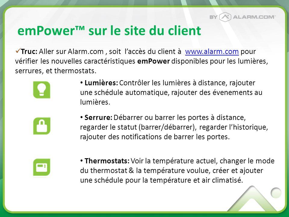 emPower™ sur le site du client