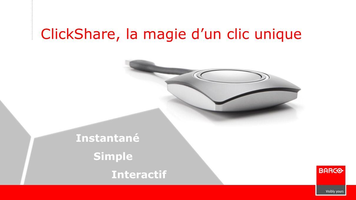 ClickShare, la magie d'un clic unique