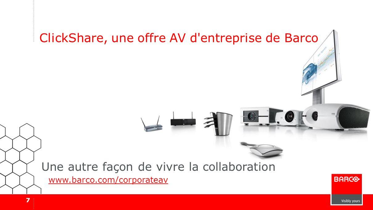 ClickShare, une offre AV d entreprise de Barco