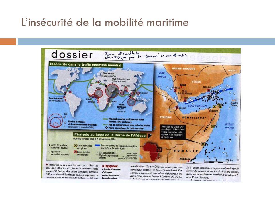 L'insécurité de la mobilité maritime