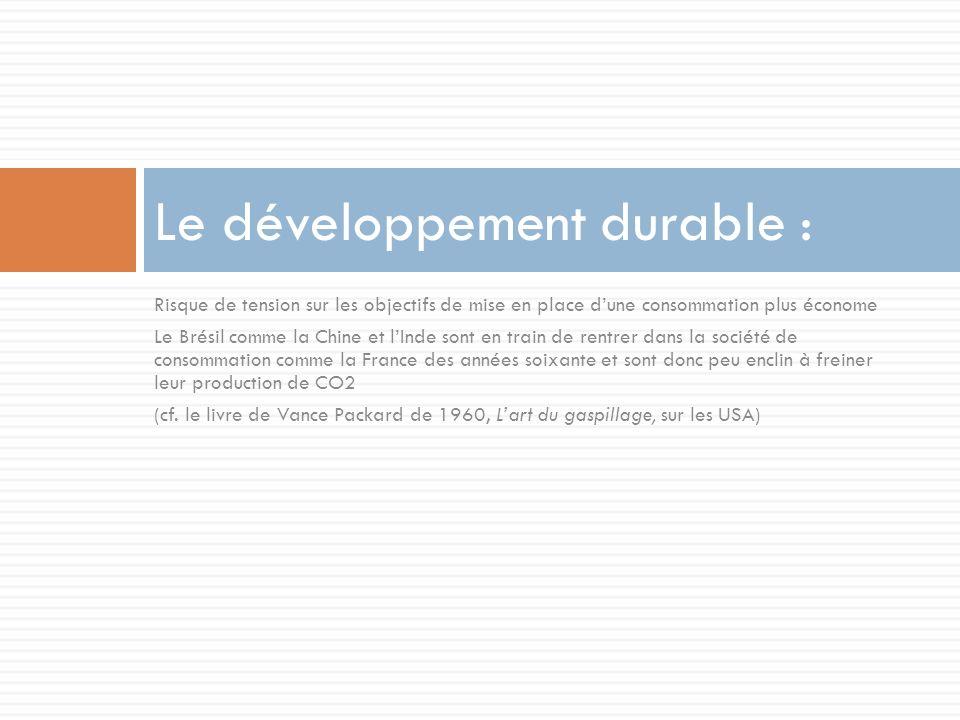 Le développement durable :