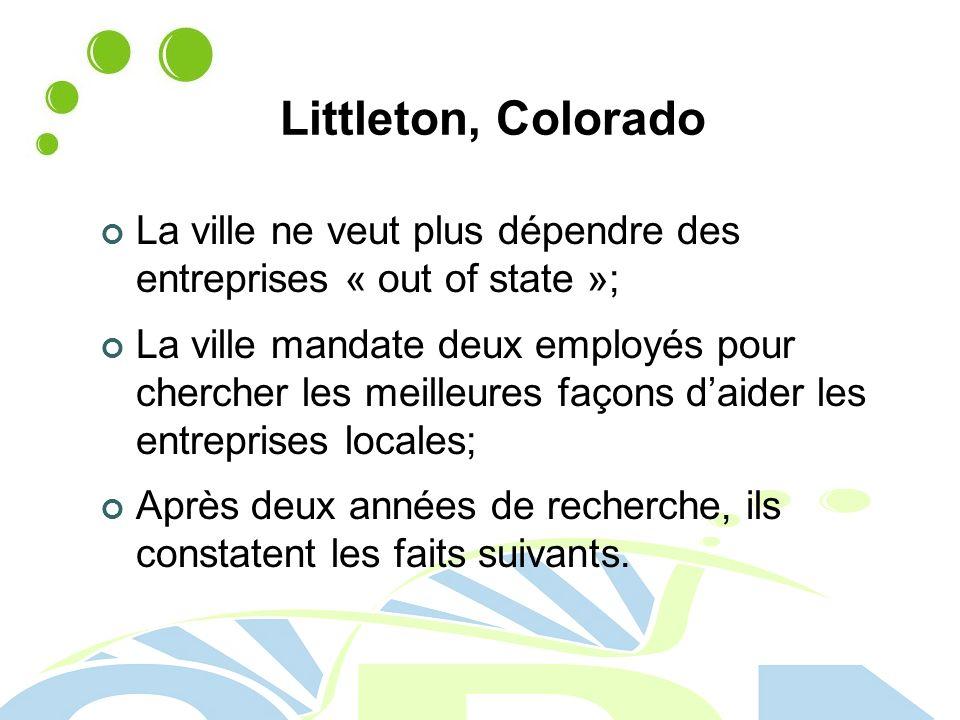 Littleton, Colorado La ville ne veut plus dépendre des entreprises « out of state »;