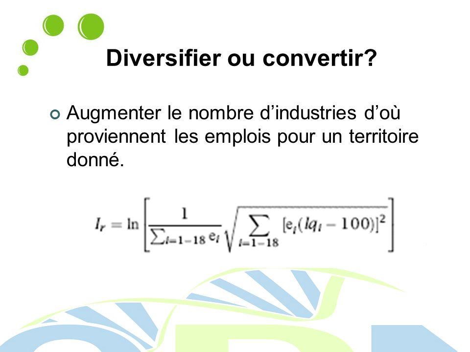 Diversifier ou convertir