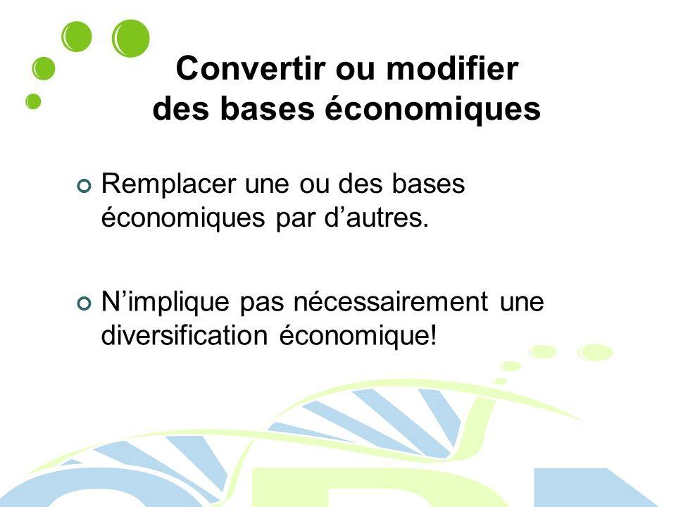 Convertir ou modifier des bases économiques