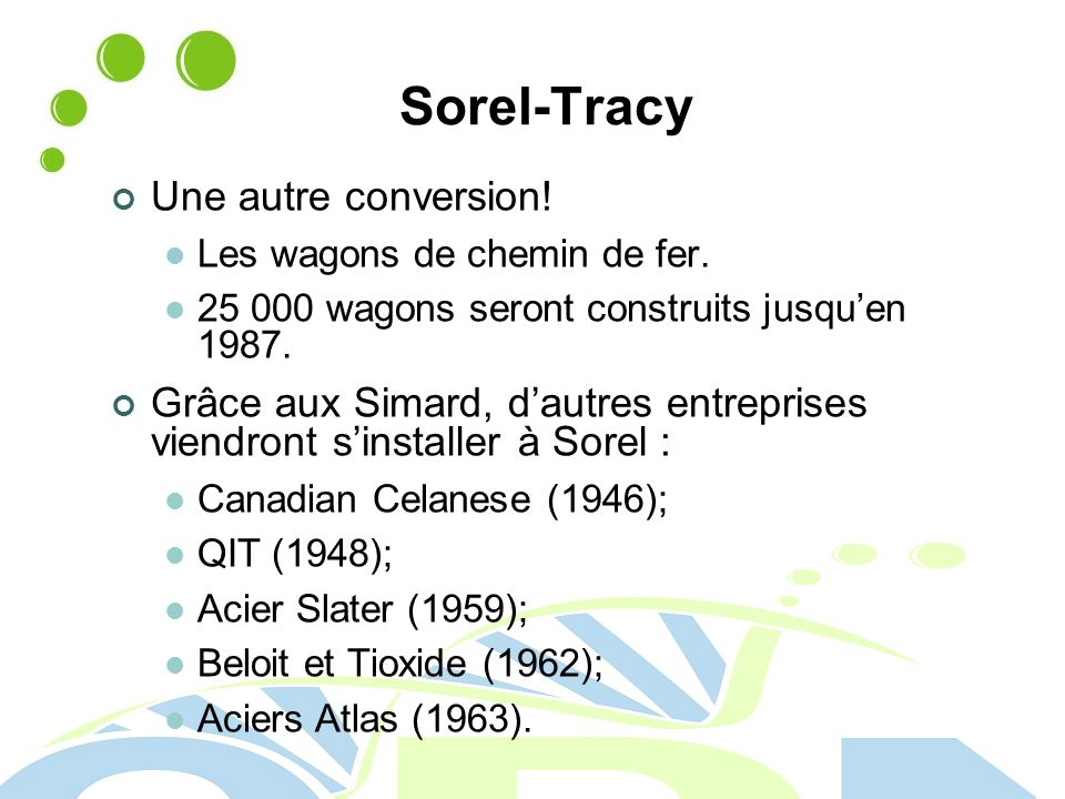 Sorel-Tracy Une autre conversion!
