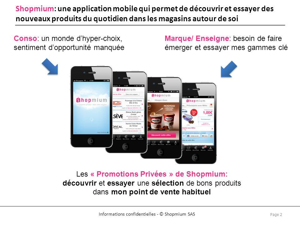 Shopmium: une application mobile qui permet de découvrir et essayer des nouveaux produits du quotidien dans les magasins autour de soi