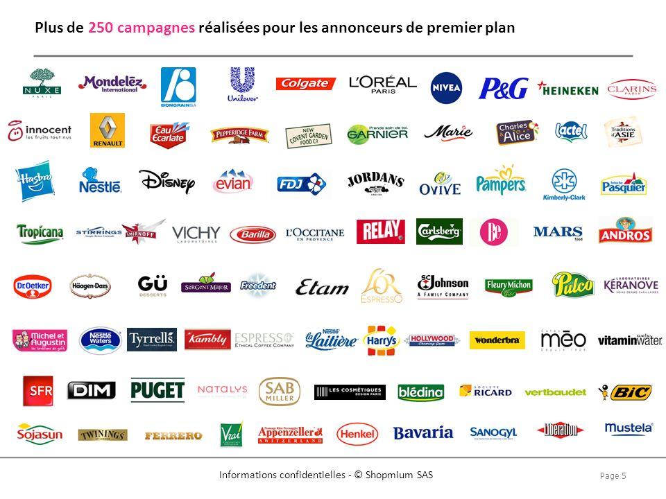Plus de 250 campagnes réalisées pour les annonceurs de premier plan