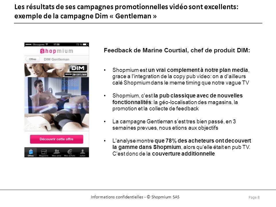 Les résultats de ses campagnes promotionnelles vidéo sont excellents: exemple de la campagne Dim « Gentleman »