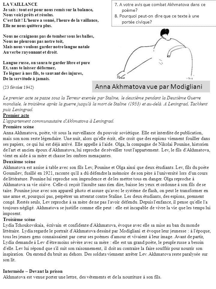 Anna Akhmatova vue par Modigliani