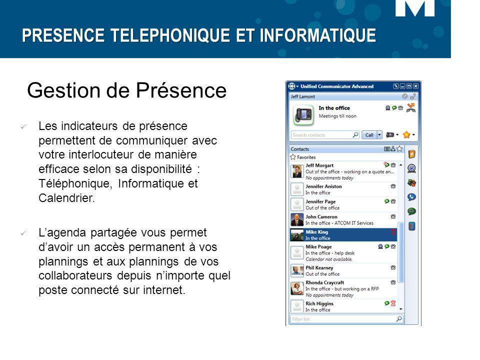 PRESENCE TELEPHONIQUE ET INFORMATIQUE