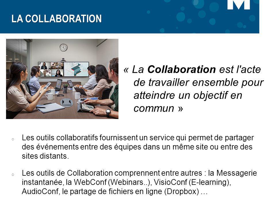 LA COLLABORATION « La Collaboration est l acte de travailler ensemble pour atteindre un objectif en commun »