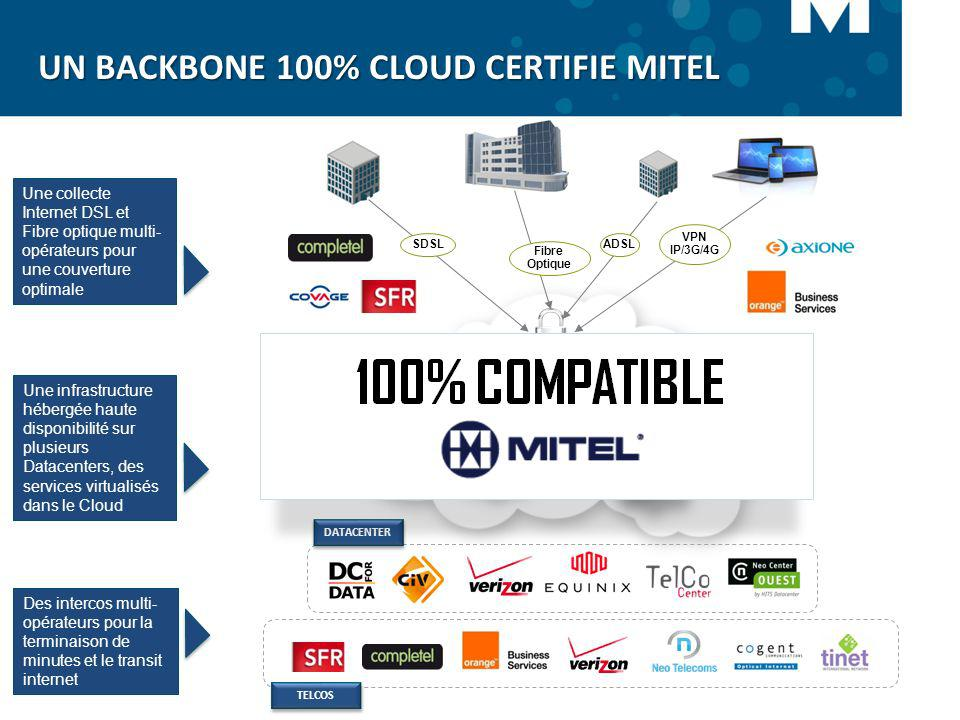 UN BACKBONE 100% CLOUD CERTIFIE MITEL