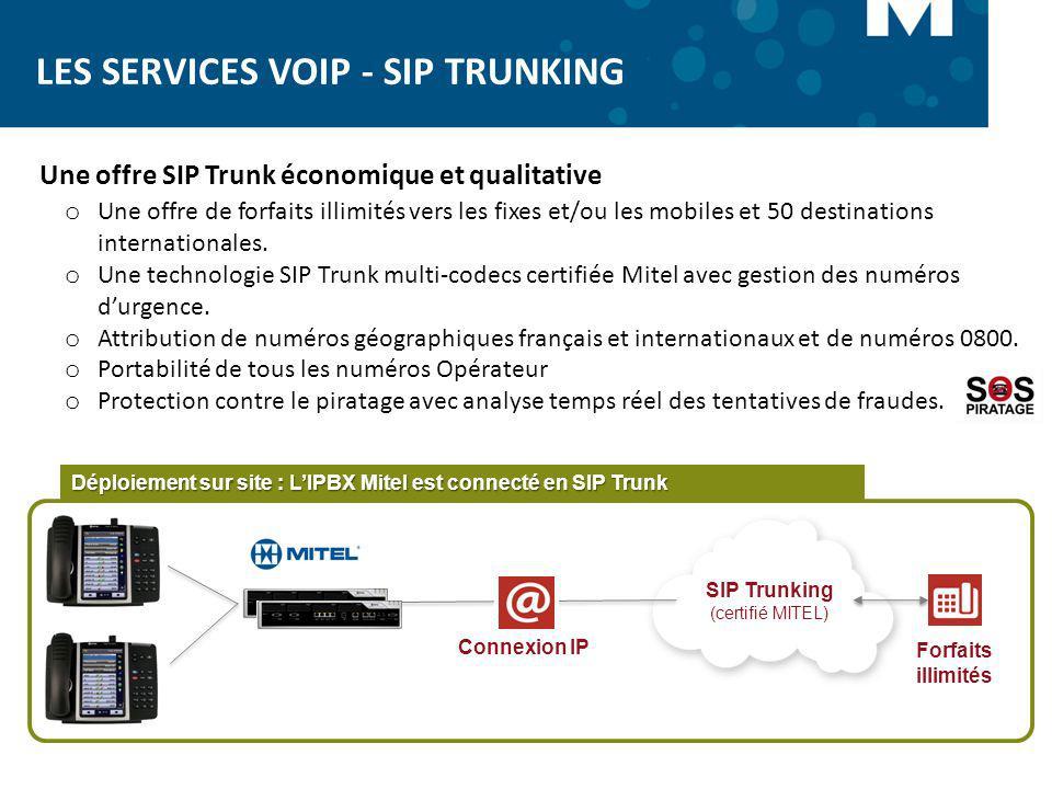 SIP Trunking (certifié MITEL)