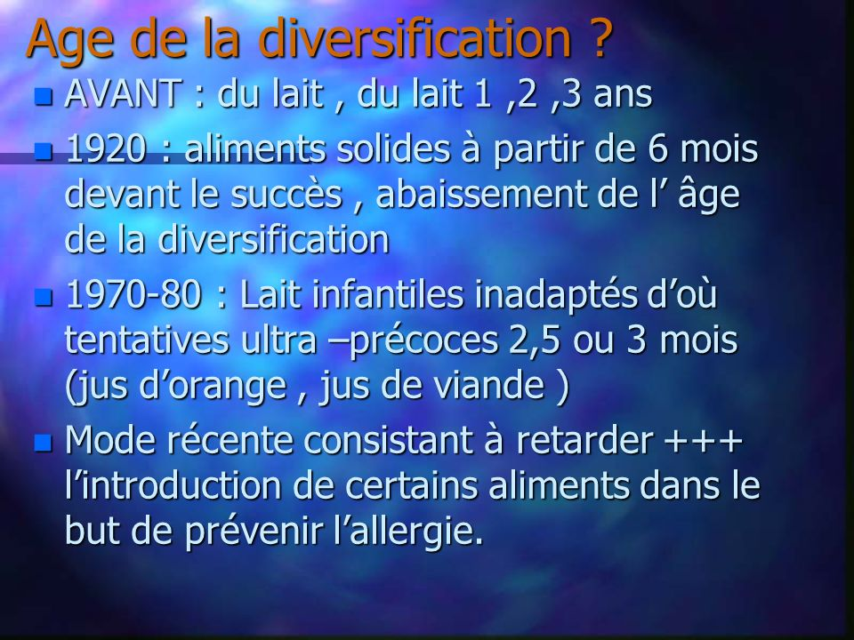 Age de la diversification