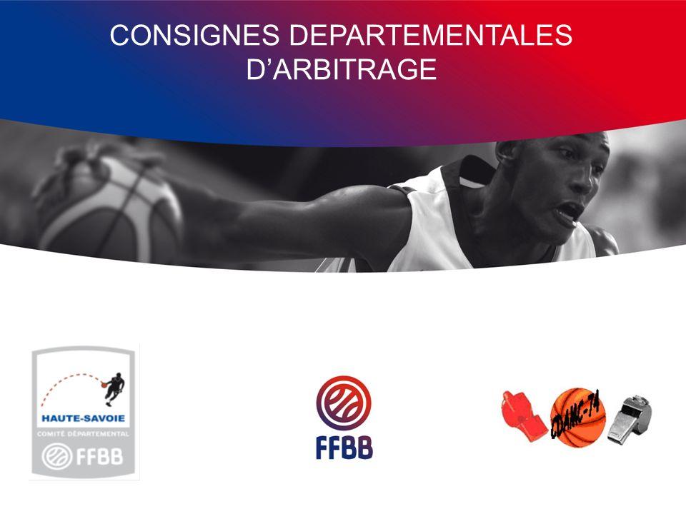 CONSIGNES DEPARTEMENTALES D'ARBITRAGE