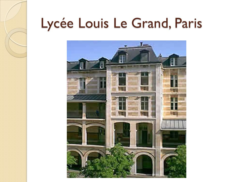 Lycée Louis Le Grand, Paris