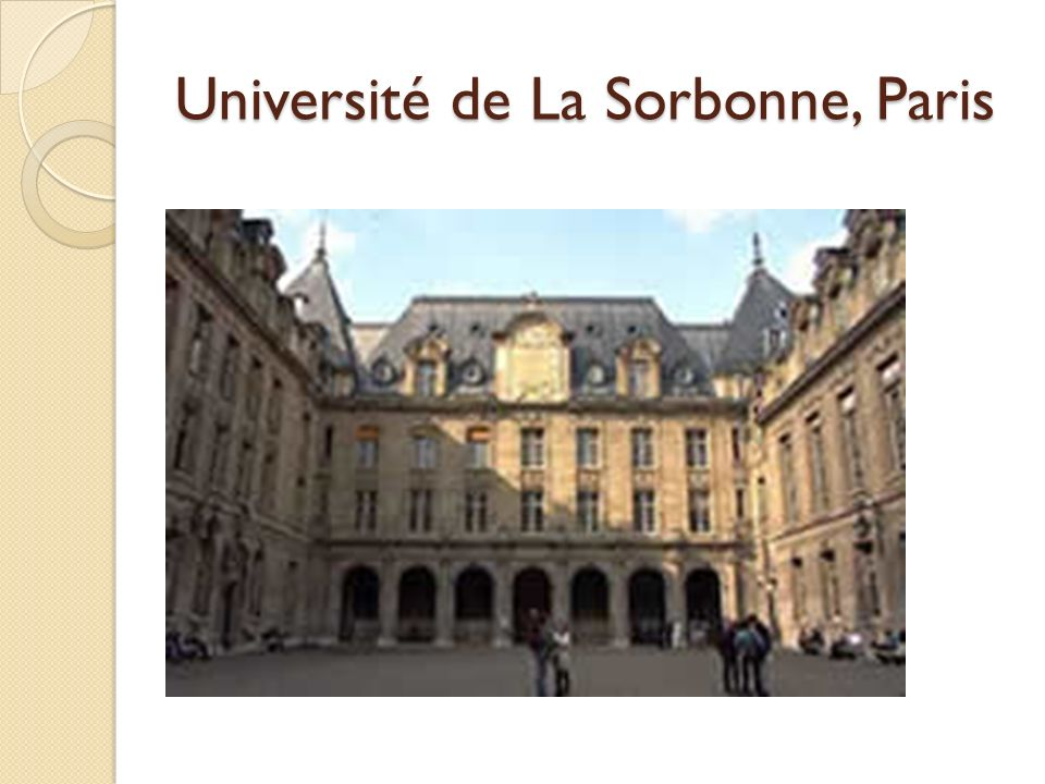 Université de La Sorbonne, Paris