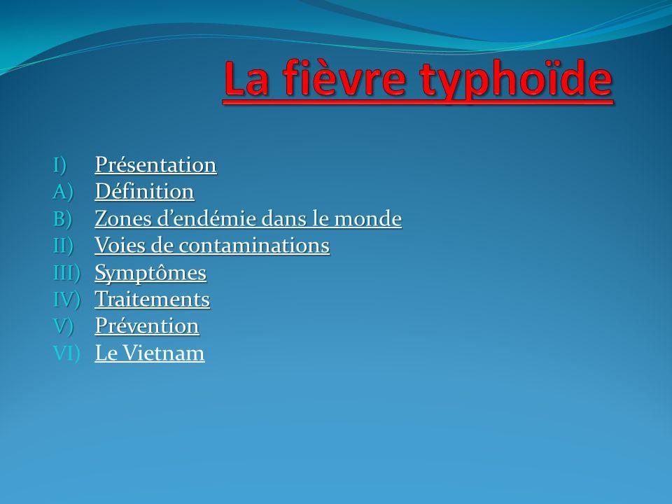 La fièvre typhoïde Présentation Définition