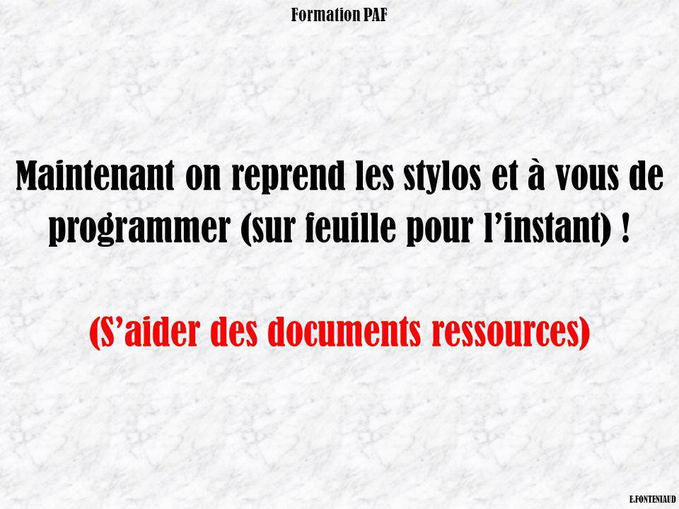 (S'aider des documents ressources)