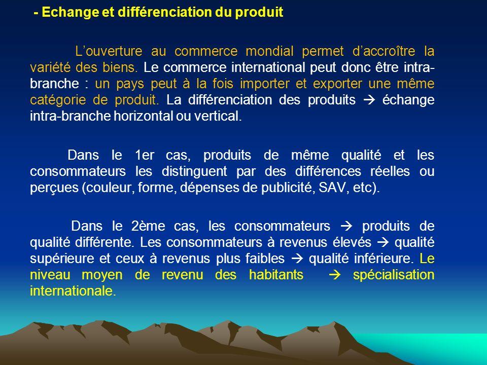 - Echange et différenciation du produit