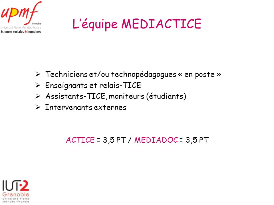 ACTICE = 3,5 PT / MEDIADOC = 3,5 PT