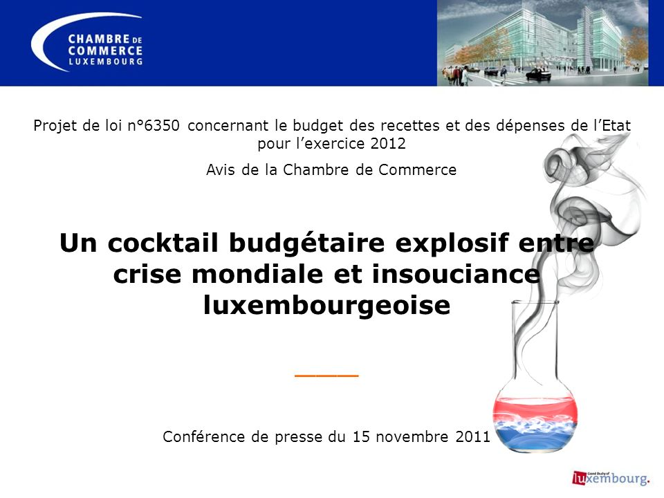 Projet de loi n°6350 concernant le budget des recettes et des dépenses de l'Etat pour l'exercice 2012