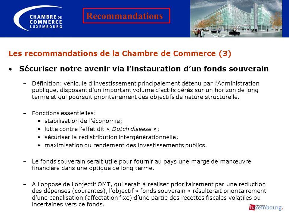 Les recommandations de la Chambre de Commerce (3)