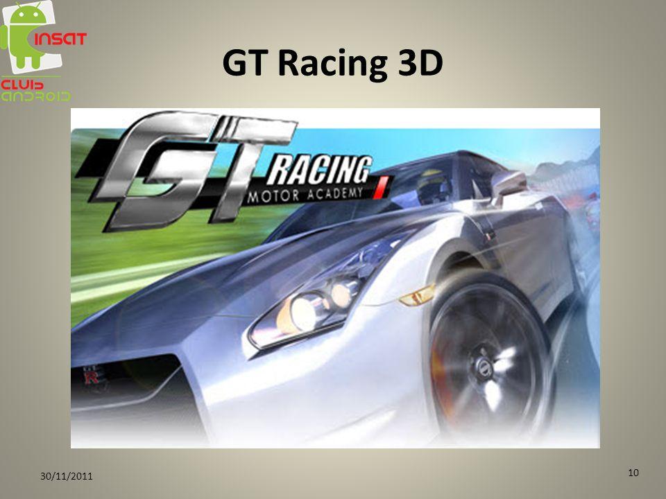 GT Racing 3D 30/11/2011