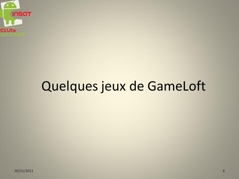 Quelques jeux de GameLoft