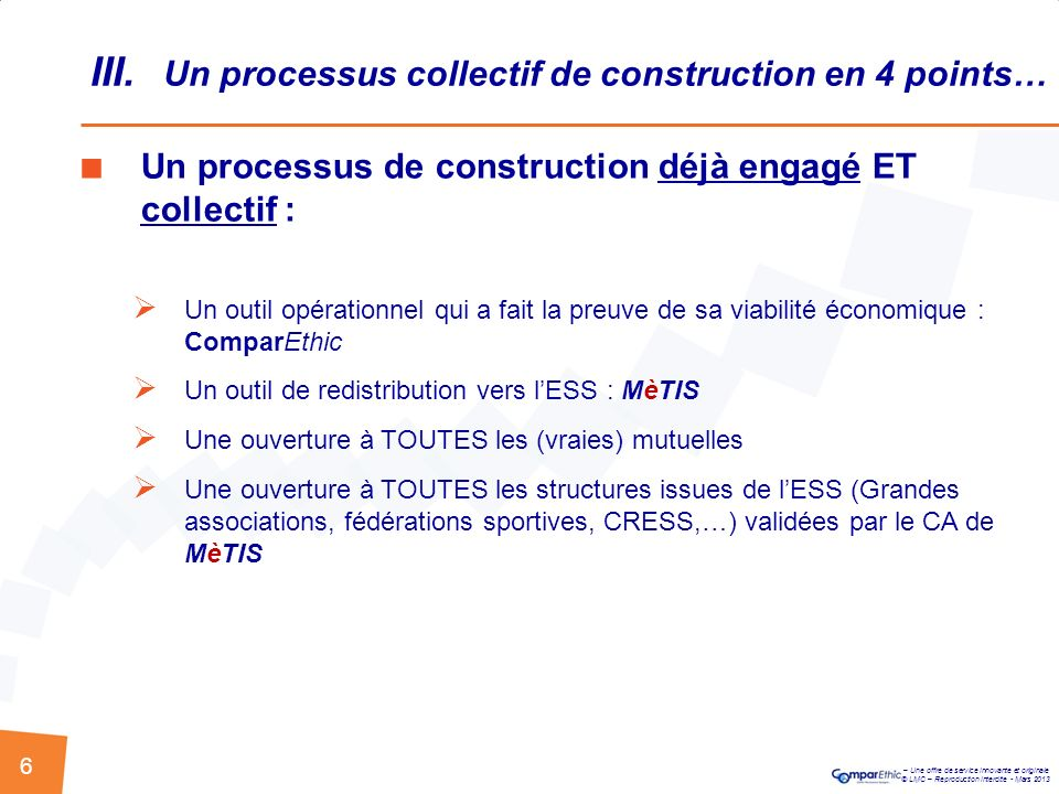 III. Un processus collectif de construction en 4 points…