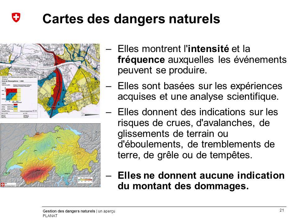 Cartes des dangers naturels