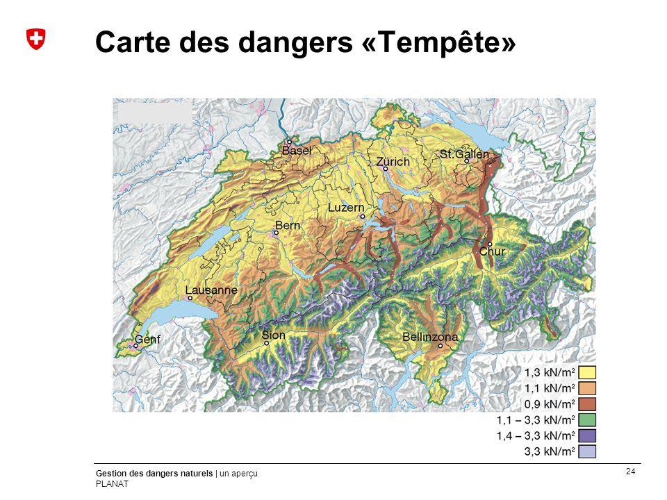 Carte des dangers «Tempête»